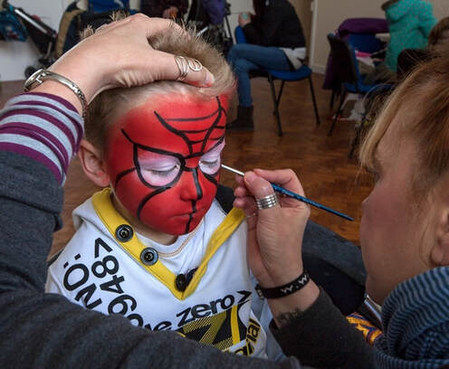 Spider-Man Face Painting